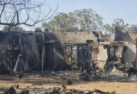 scene of Boko Haram bomb Attack in Nigeria