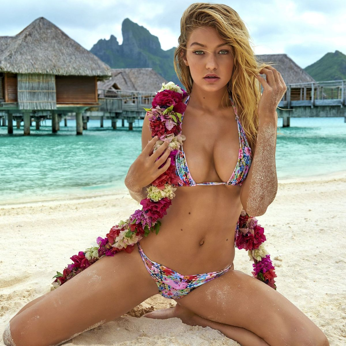 Gigi Hadid flashes some hot flesh into tiny bikini for Sports Illustrated