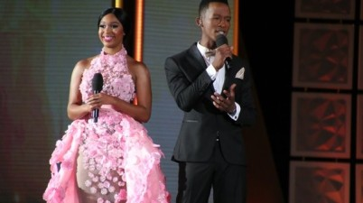 Minnie Dlamini and Katlego Maboe