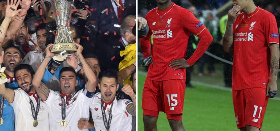 Liverpool were beaten by Sevilla in the Europa League final in Basel