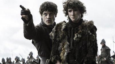 """Iwan Rheon, left, and Art Parkinson in """"Game of Thrones."""" Credit Helen Sloan/HBO"""