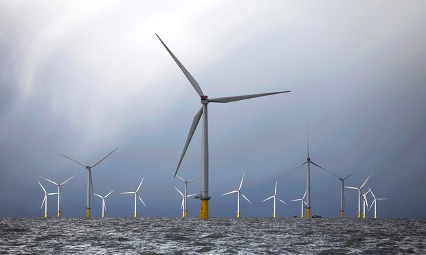 The London Array offshore windfarm – a project dominated by Norwegian, Gulf and German companies