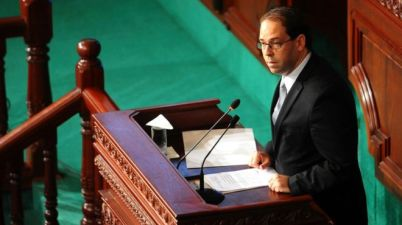 Youssef Chahed promised a tough line on the economy