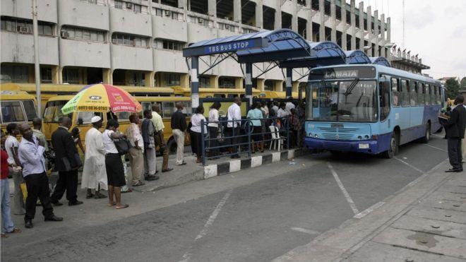 Queue in Nigeria state of Lagos