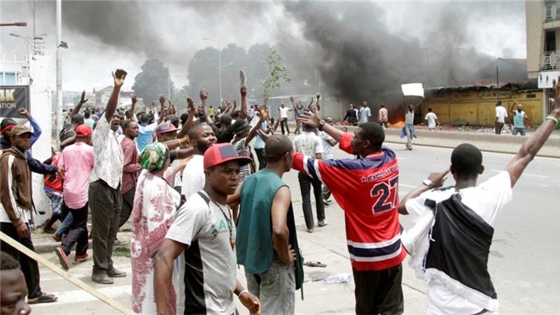 Anti-government protesters marched through Kinshasa on Monday demanding President Joseph Kabila step down