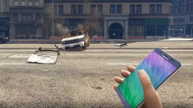 The modification lets players throw Samsung's Galaxy Note 7, which then explodes
