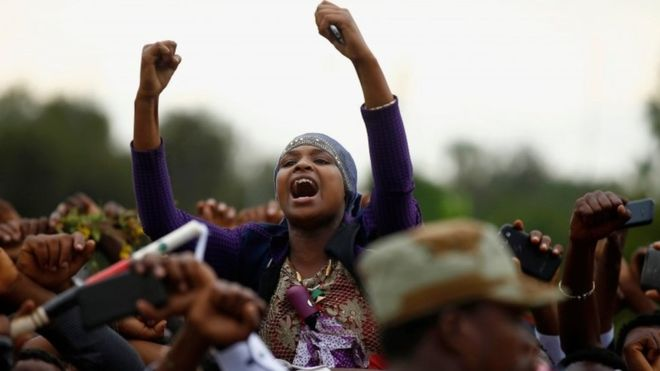 The most recent protests were sparked by the deaths of at least 55 people at an Oromo religious festival