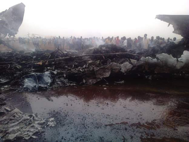 The plane was completely destroyed in the blaze