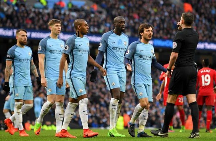 Man City gets £35,000 fine for misconduct against Liverpool