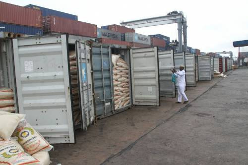 Rice containers seized from Masters Energy Trading Limited
