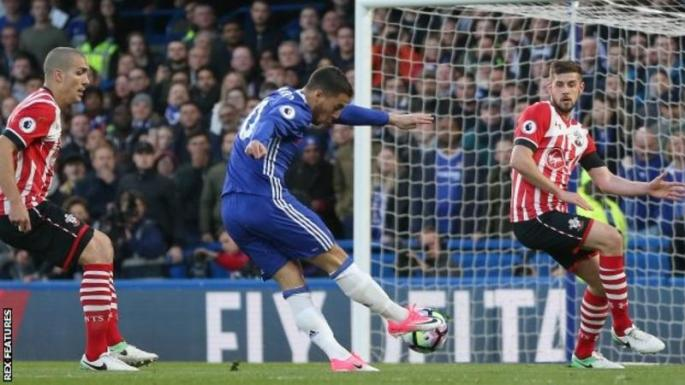 Chelsea restores Premier League lead to seven with a 4-2 win against Southampton