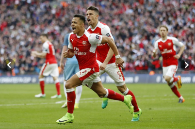 Arsenal through to FA Cup Finals with Chelsea after Beating Manchester City. Photo: REUTERS/Standard