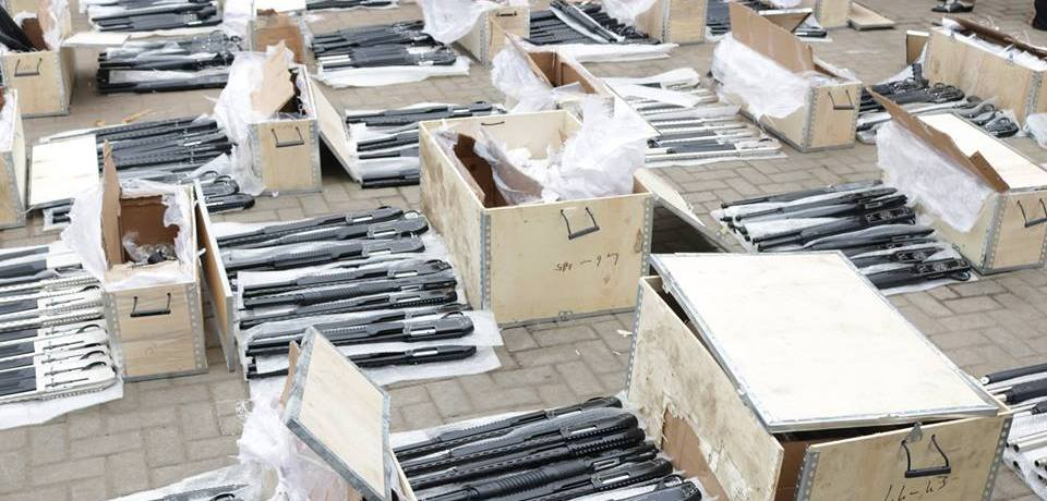 Another big container-load of arms found in Lagos port