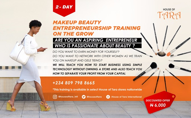 Plan to attend House of Tara's two-day makeup business training