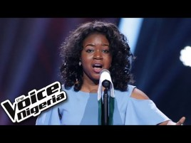 Video: Powerful rendition of Nigeria national anthem by Sandra Osamor at the Voice Nigeria