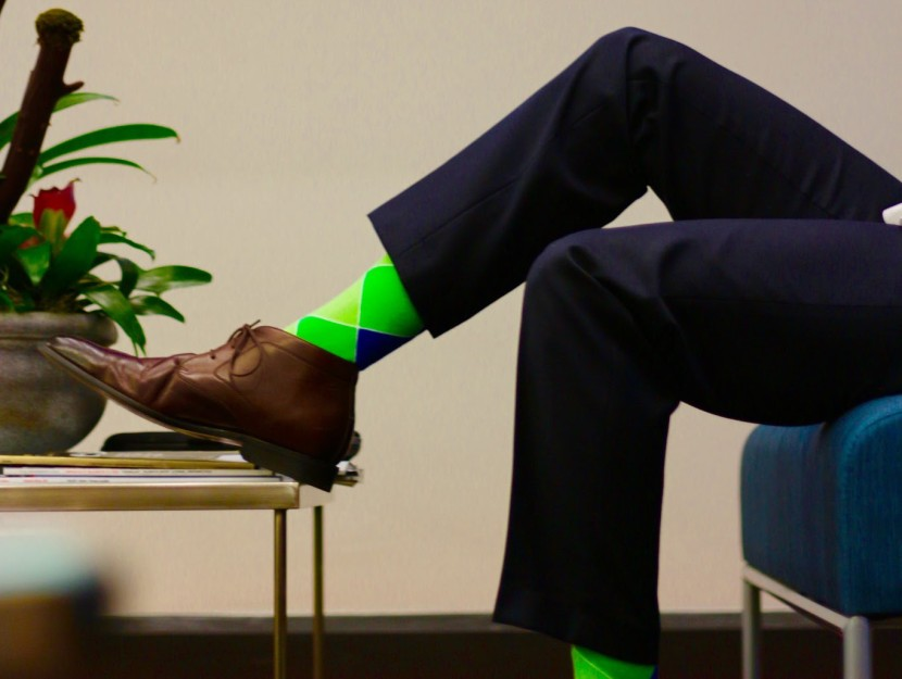 Style: socks gradually becoming menswear battleground