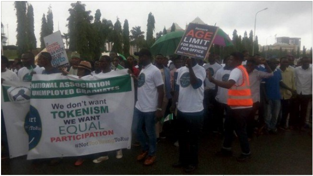 Commotion in National Assembly as Youth Protests 'Not too young to run' bill