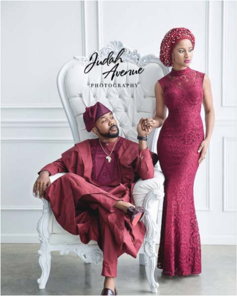 Banky W's fiance Adesua Etomi poses with mother-in-law, sister in-law