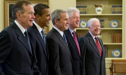 Former America presidents join hands to support victims of Hurricane Harvey