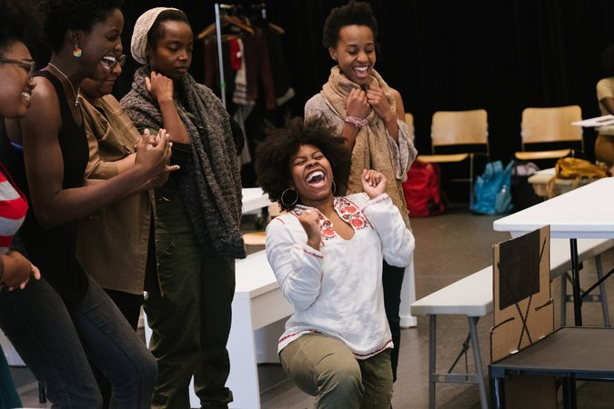 For this playwright, Africa filled with happiness, not tears