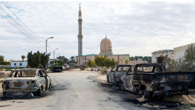 Egypt Sisi gives military three months to secure Sinai after mosque attack