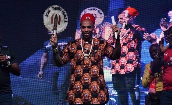 Thierry Henry crowned 'Igwe of football' in Lagos