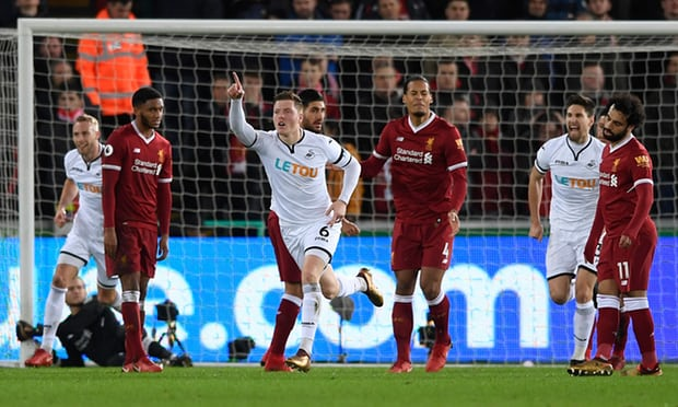 Alfie Mawson got bleeding Swansea singing after denting Liverpool's high hopes