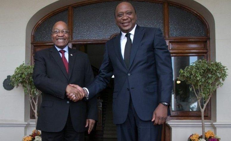 Kenyatta watches as ANC members boo Zuma - Photos
