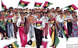 How Biafran women stripped naked, protesting against restructuring of Nigeria