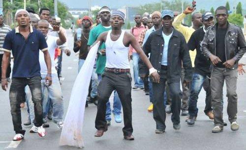 'Niger Delta Militants' protest in Ondo