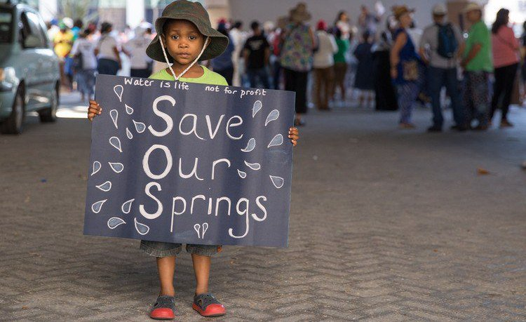 Protests Cape Town City over water crisis
