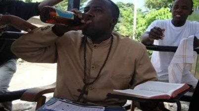 'Man of God' who drinks beer while preaching arrested