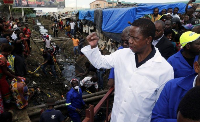 President Edgar Lungu says government is effectively fighting the Cholera epidemic (file photo).