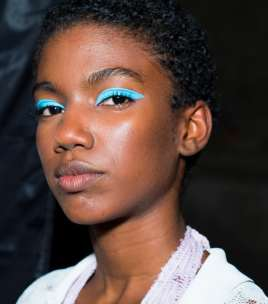 Blue sky thinking: Missoni's catwalk look.