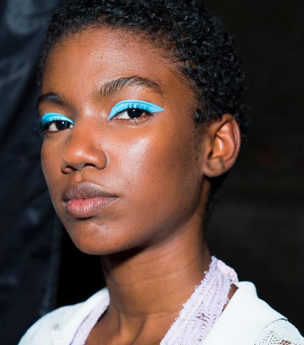 Blue sky thinking: Missoni's catwalk look.