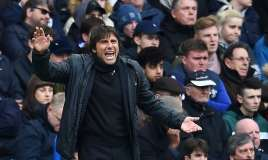 Chelsea have little to play for but Antonio Conte will not allow his players to ease off against West Ham. Photo: Andy Rain/EPA