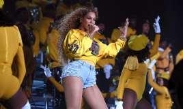 Uncrampable style ... Beyoncé performing at Coachella
