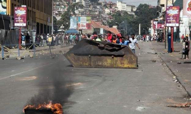 Thousands protest in Madagascar