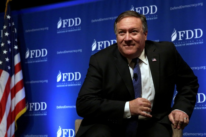 CIA Director Mike Pompeo arrives the FDD National Security Summit in Washington, U.S., October