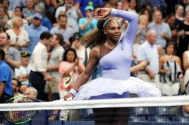 Serena Williams after her second-round victory over Carina Witthöft on Wednesday. Photo: Michelle V. Agins/The New York Times