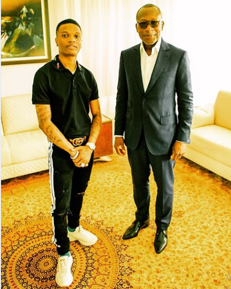 Wizkid and Benin President