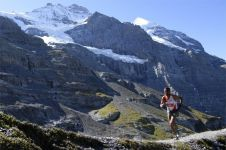 Ethiopia's Birhanu Mekonnen runs on Saturday in the 2018 Jungfrau Marathon in Switzerland, one of the most popular mountain marathons.