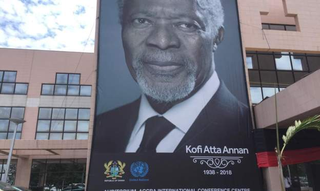Ghanaians prepare to pay respect to Kofi Annan