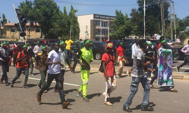 Shiites continues protests in Abuja amid crackdown
