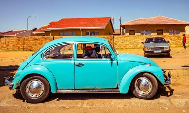 A blue Beetle going nowhere in Soweto