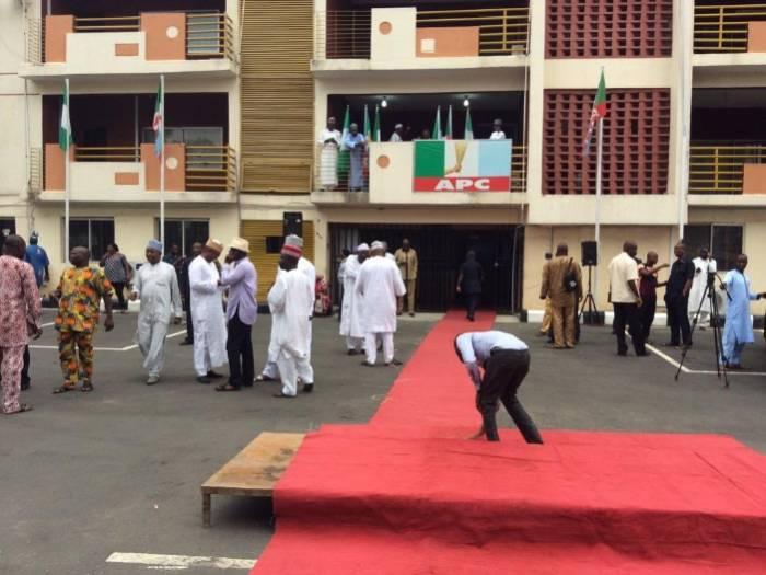 APC National Secretariat in Abuja. Photo: Premium Times