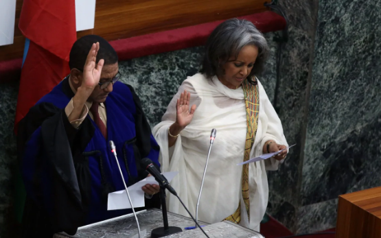 Ethiopia's first female President Sahle-Work Zewde is sworn in