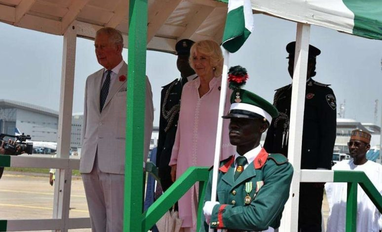 Prince Charles and wife Camille arrive Nigeria