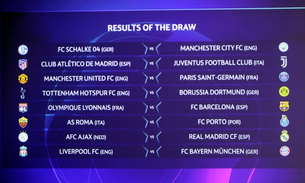 Champions League: Man United to face PSG and Liverpool face Bayern
