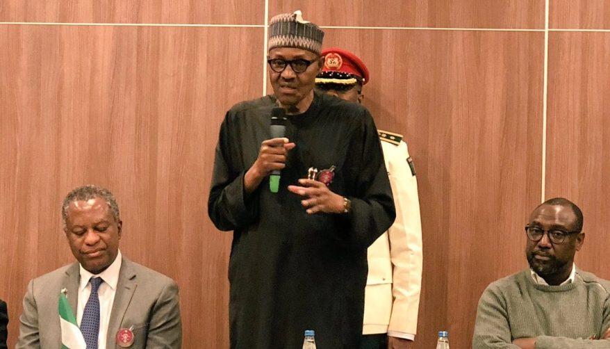 President Muhammadu Buhari in Kakrow, Poland